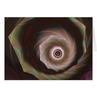 Cabbage Rose Greeting Card