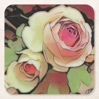 Cabbage Rose Coaster
