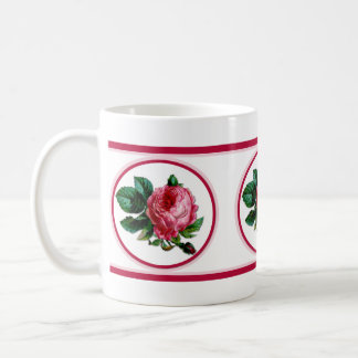 Cabbage Rose Coffee Mug