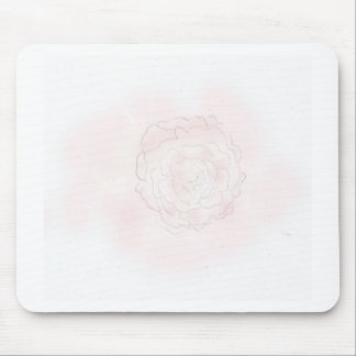 Cabbage Rose Design Mouse Pad