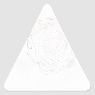 Cabbage Rose Design Triangle Sticker