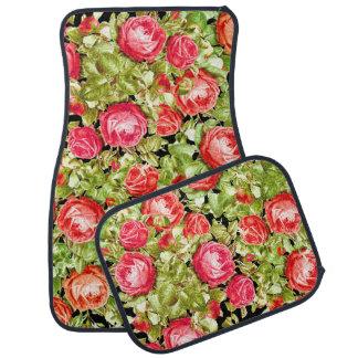 Cabbage Rose Flowers Floor Mats