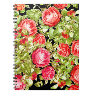 Cabbage Rose Flowers Notebook