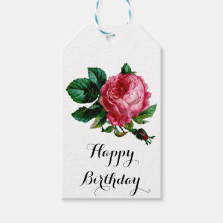 Cabbage Rose Gift Tag
