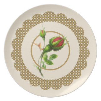 Cabbage Rose Plate