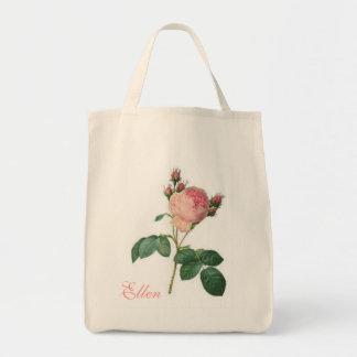 Cabbage Rose Vintage Floral Tote Bag