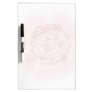 Cabbage Rose Wipe Board