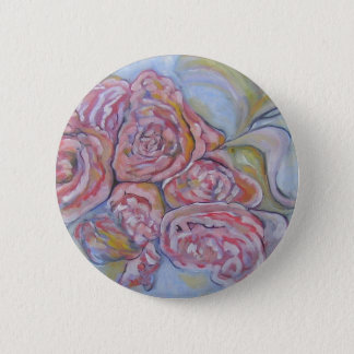 Cabbage Roses Button