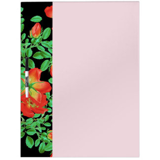 Cabbage Roses Dry Erase Board