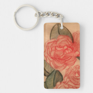 Cabbage Roses Keychain