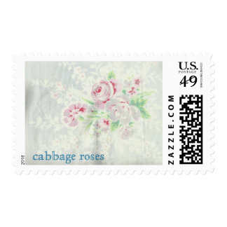 Cabbage Roses Postage Stamps Postage