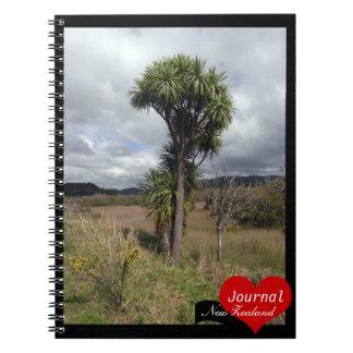Cabbage Tree, New Zealand, Wilderness (Notebook) Spiral Notebook