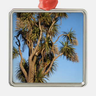 Cabbage tree summertime New Zealand Metal Ornament