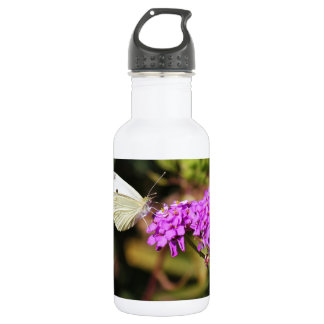Cabbage White Butterfly 18oz Water Bottle