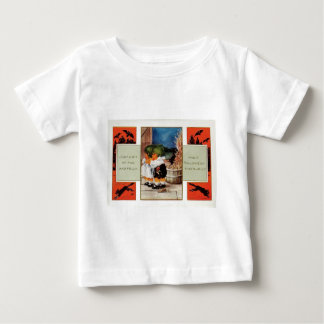 Cabbagehead Barn Black Cat Bat Baby T-Shirt