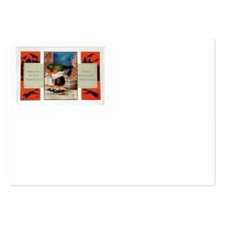 Cabbagehead Barn Black Cat Bat Large Business Card