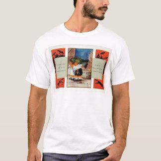 Cabbagehead Barn Black Cat Bat T-Shirt