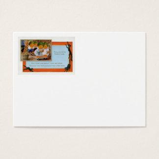 Cabbagehead Barn Black Cat Business Card