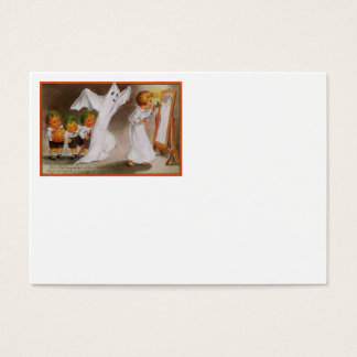 Cabbagehead Ghost Child Jack O' Lantern Business Card
