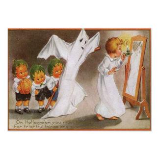 Cabbagehead Ghost Spirit Scarecrow Pumpkin Card