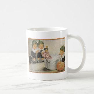 Cabbagehead Jack O' Lantern Black Cat Coffee Mug