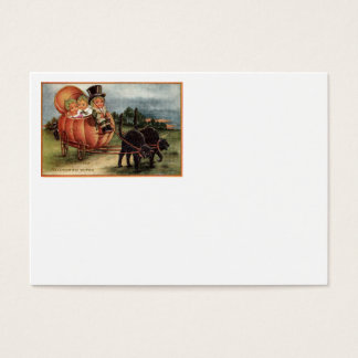 Cabbagehead Pumpkin Carriage Black Cat Business Card