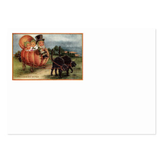 Cabbagehead Pumpkin Carriage Black Cat Large Business Card