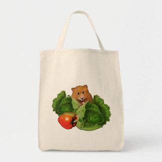 Cabbages, Pepper: Hamster: Groceries: Artwork Tote Bag