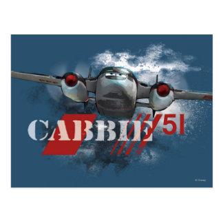 Cabbie Graphic Postcard