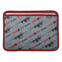 Cabbie Silhouette Pattern MacBook Air Sleeve