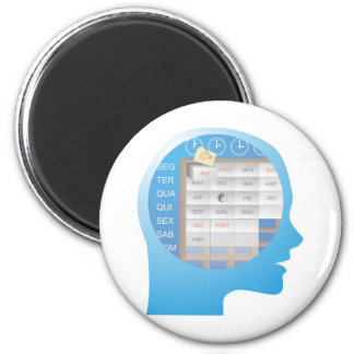 cabeçaXX compartimentado brain days of the week Magnet