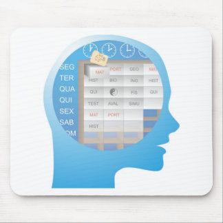 cabeçaXX compartimentado brain days of the week Mouse Pad