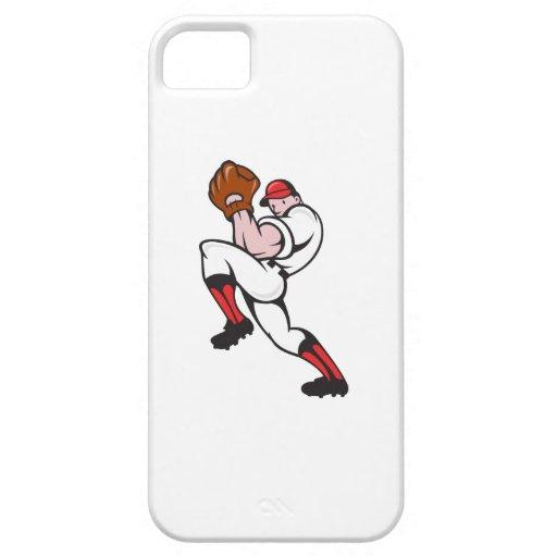 Cabeceo del jugador de la jarra del béisbol iPhone 5 fundas