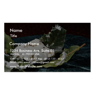 Cabecou Feuille Cheese Wrapped In Chestnut Leaves Business Card