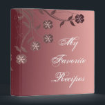 """Cabernet &amp; Candy Pink Floral Swirl Recipe Book Binder<br><div class=""""desc"""">Organize your favorite recipes with this recipe book binder featuring a cabernet and candy pink gradient background adorned with floral blooms.  Customizable text allows you to alter fonts,  change text colors and sizes as you wish.  Personalize for yourself of makes a great gift.</div>"""