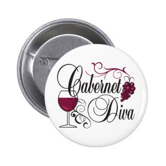 Cabernet Diva 2 Inch Round Button