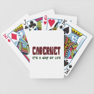 Cabernet es una manera de vida baraja cartas de poker