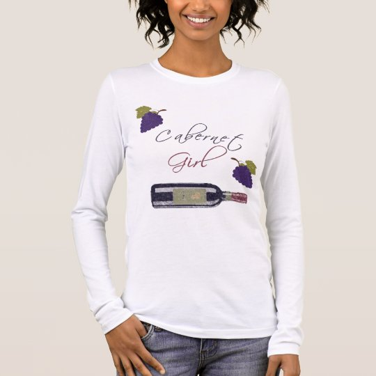 Cabernet Sauvignon Girl Vintage Long Sleeve T-Shirt