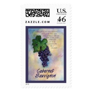 Cabernet Sauvignon Red Wine Grapes Postage Stamp
