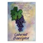 Cabernet Sauvignon Wine Card