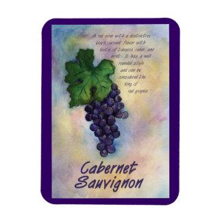 Cabernet Sauvignon Wine Grapes Painting Art Magnet