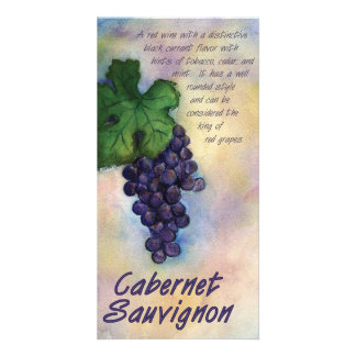 Cabernet Sauvignon Wine Photo Card