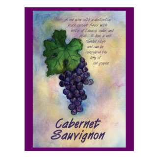 Cabernet Sauvignon Wine Postcard