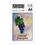 Cabernet Sauvignon Wine Stamp