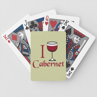 Cabernet Wine Drinker Bicycle Playing Cards