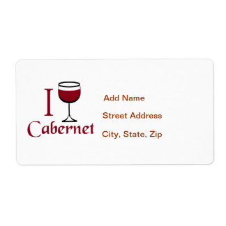 Cabernet Wine Drinker Label