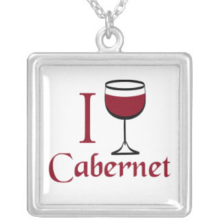 Cabernet Wine Drinker Personalized Necklace