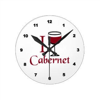 Cabernet Wine Drinker Round Clock