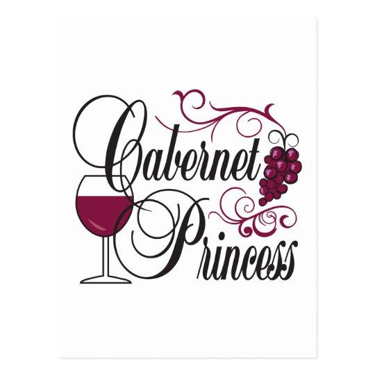 Cabernet Wine Princess Postcard
