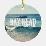 Cabeza 2013 de la bahía - recuperación en la orill ornamento para arbol de navidad